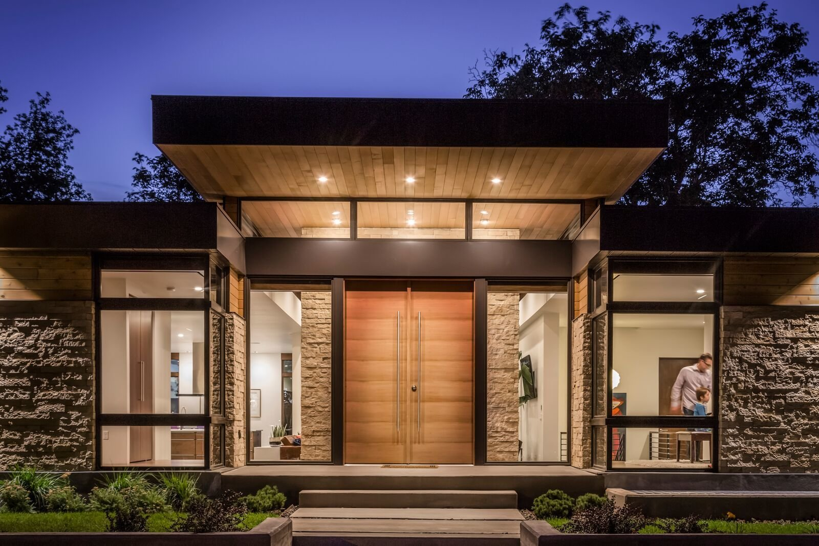 Entry  Rock Canyon Residence by Imbue Design