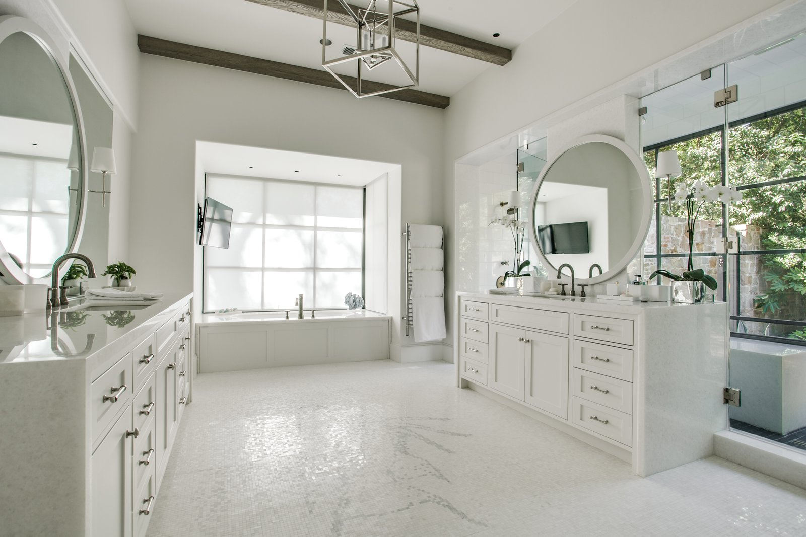 Hanoi Pure White Transitional Kitchen and Bath