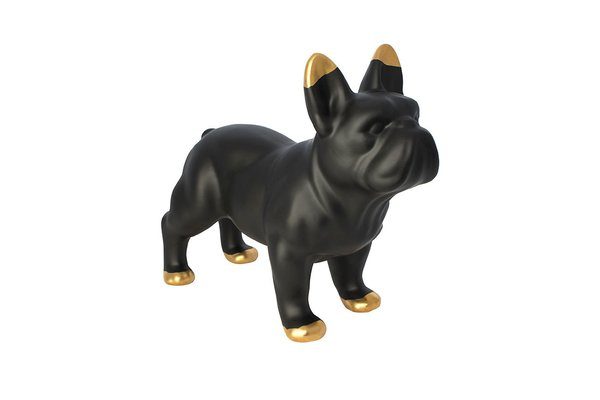 Black Ceramic Bulldog