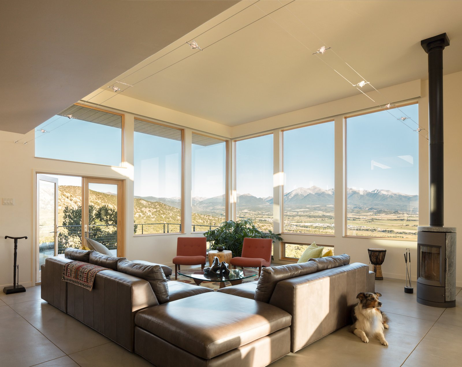 Living Room  Northern Slope Sanctuary by Gettliffe Architecture