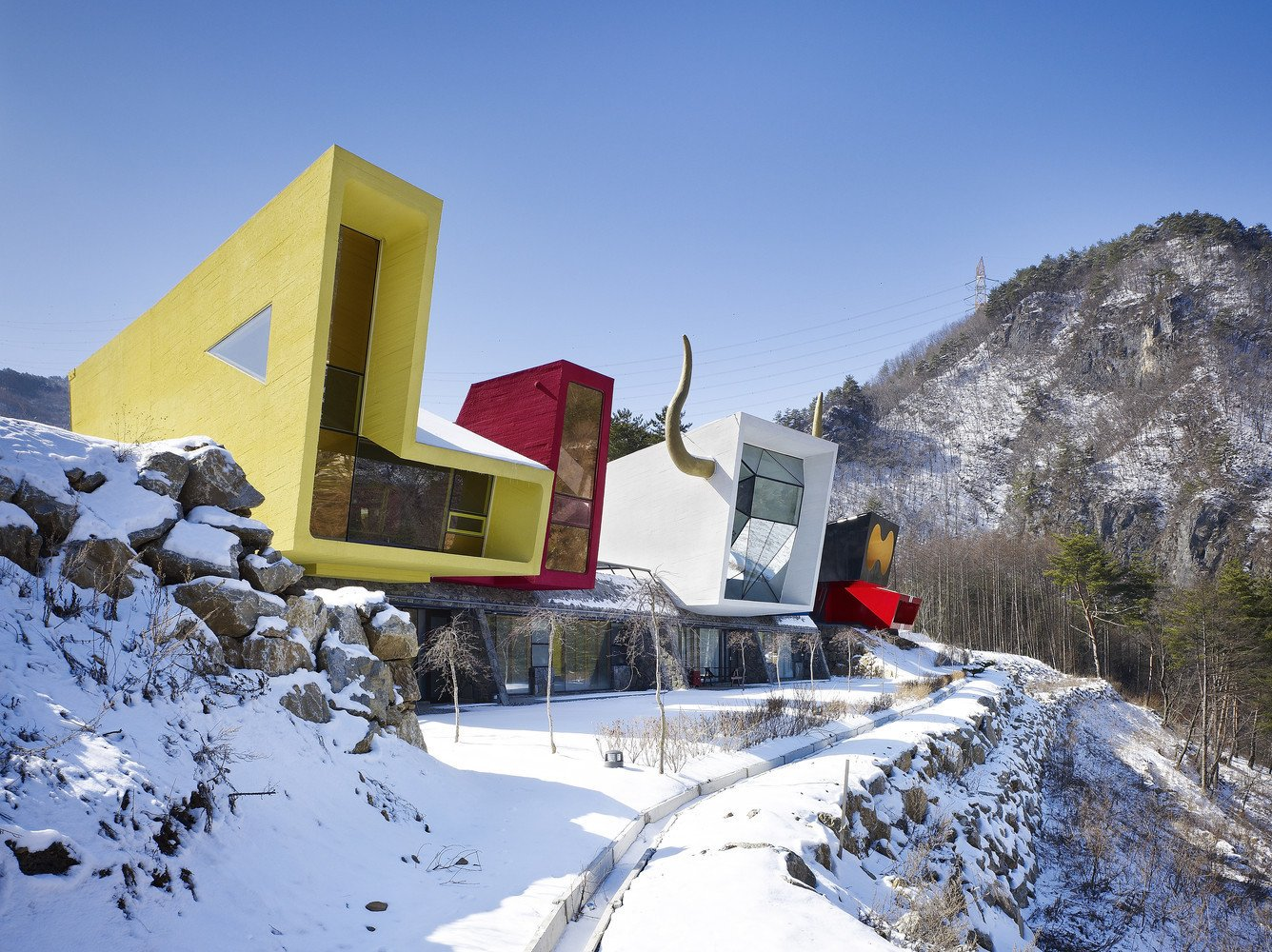 Exterior and House Building Type  Photo 1 of 11 in A Wacky Rock 'n' Roll Wonderland in the South Korean Countryside