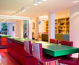 Bright Bauhaus Colors Fill This Brick Edwardian House in London - Photo 4 of 12 -