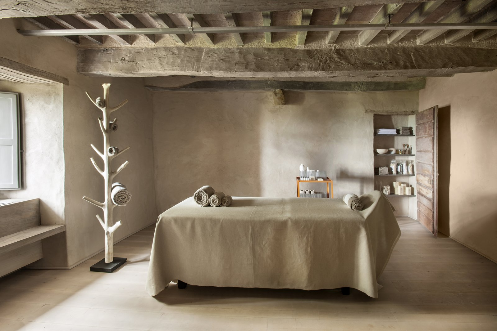 Photo 2 of 9 in A Tree-Filled Spa That Brings Warm Modernism to a 900-Year-Old Tuscan Village