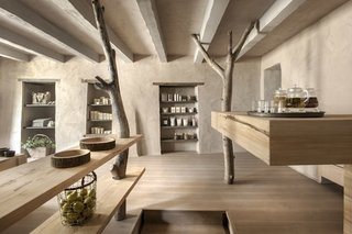 A Tree-Filled Spa That Brings Warm Modernism to a 900-Year-Old Tuscan Village - Photo 5 of 8 -
