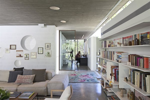 Photo 6 of 12 in An Architect's Bright and Airy Family Home Thrives Within a Brutalist Concrete Structure