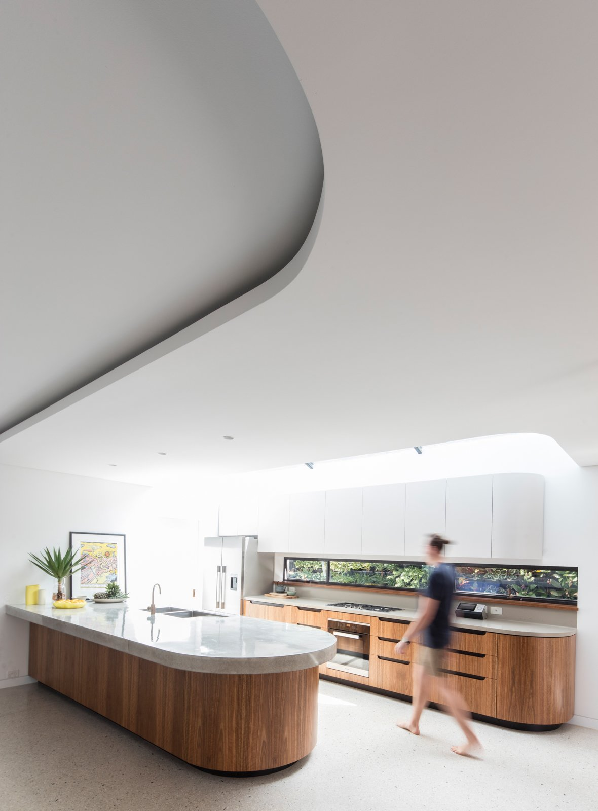 Kitchen, Refrigerator, Cooktops, Drop In Sink, Range, and Wall Oven  Conway Atkins House from A Heritage Art Deco House in Australia Gets a Modern Update