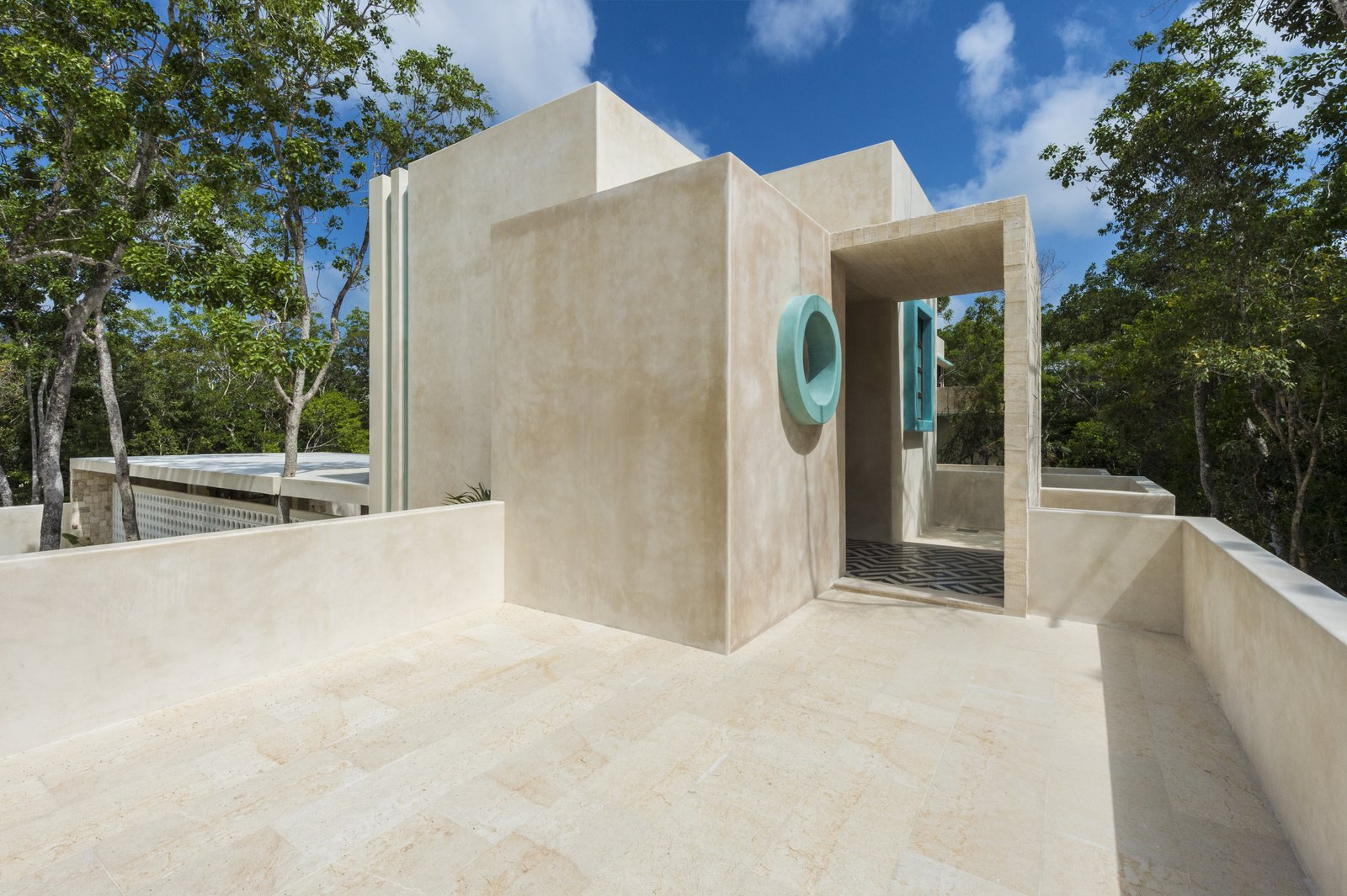 Outdoor, Trees, and Rooftop  Photo 9 of 9 in A New Modern Hotel Brings Midcentury Miami to Tulum, Mexico