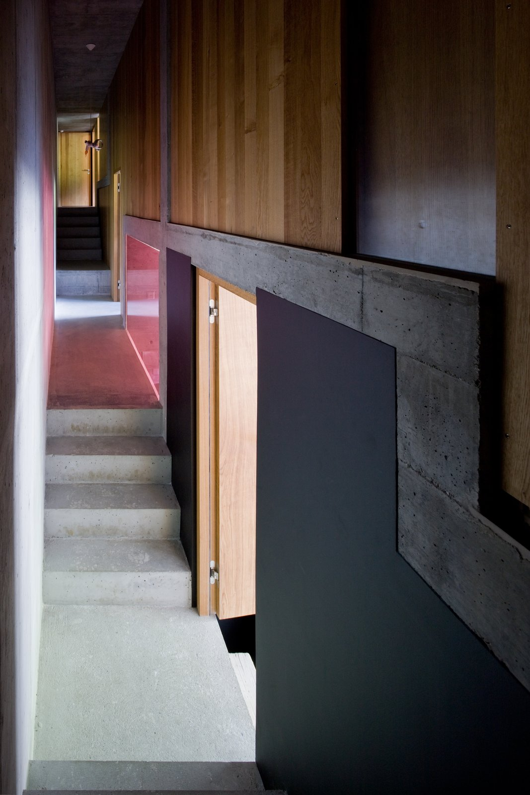 Hallway and Concrete Floor  Photo 11 of 13 in Stay in a Swiss Vacation Home That's Literally Inside a Mountain