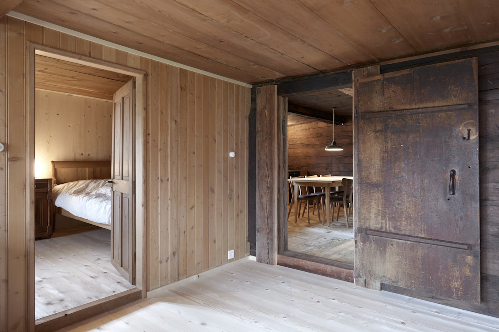 Dining Room  Photo 11 of 13 in A Renovated Pagan House in the Swiss Alps Puts Guests in Touch With the Past
