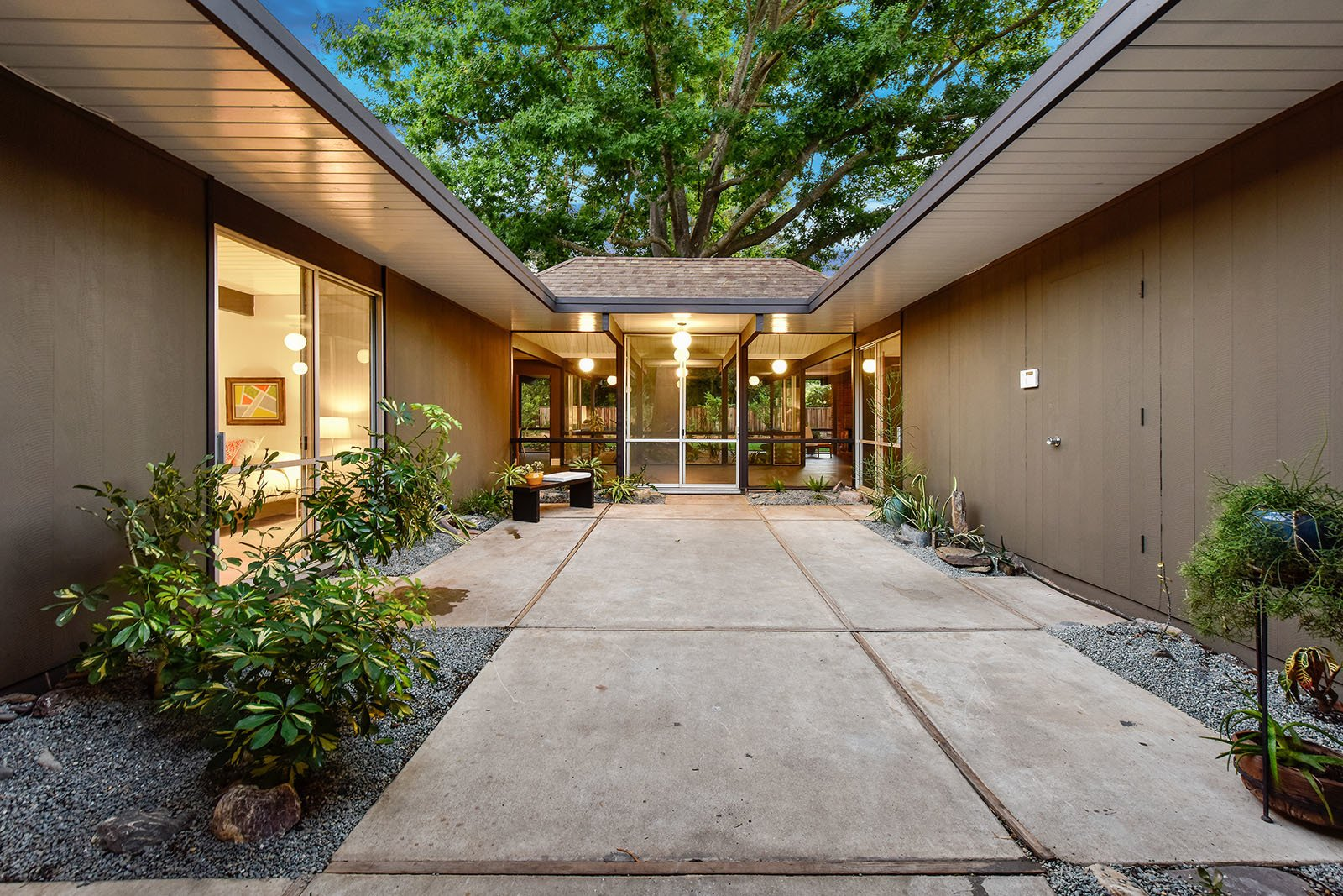 Outdoor, Concrete Patio, Porch, Deck, and Pavers Patio, Porch, Deck  Photo 10 of 15 in An Enormous Bay Area Eichler Asks $1.45M