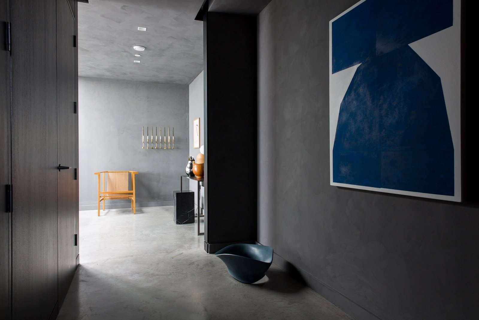 Hallway and Concrete Floor  Photo 6 of 13 in For Just Under $2 Million, You Could Live in a London Penthouse Outfitted by Cereal Magazine
