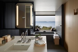 Amanemu (also shown in the cover photo above) in the tranquil Ise-Shima National Park on Honshu Island has suites and villas with large outdoor decks and traditional onsen baths.