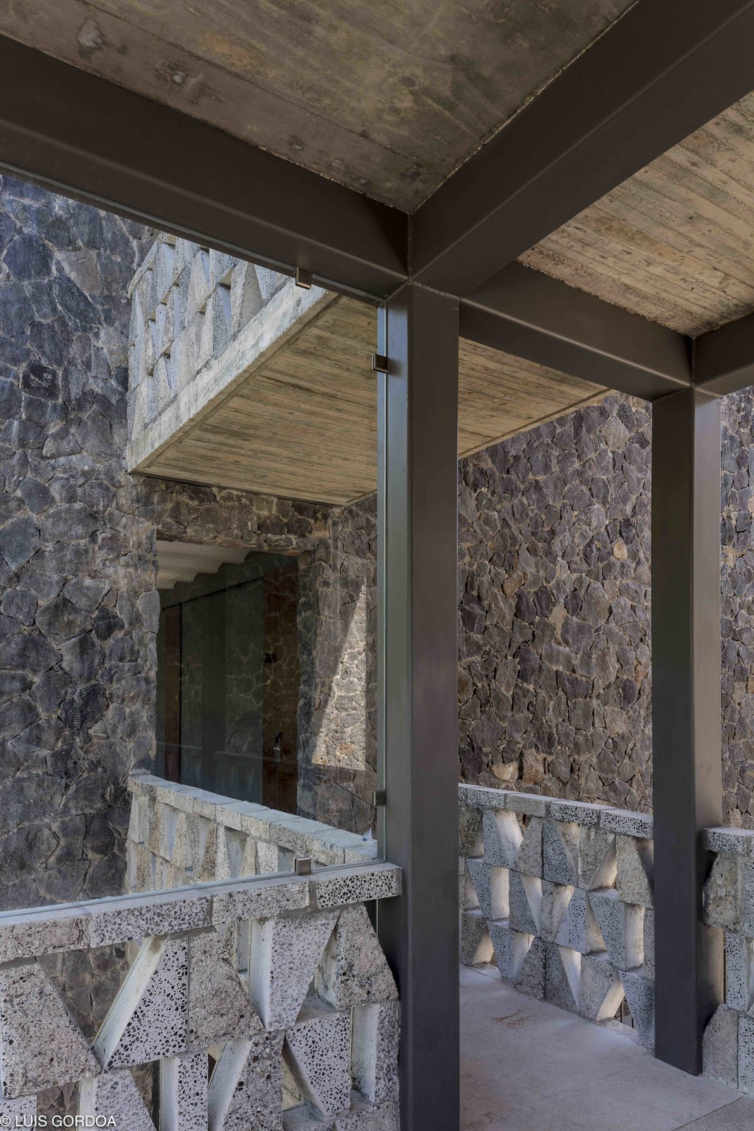 Hallway and Concrete Floor  Photo 11 of 12 in A New Hotel in Morelos Combines Local Mexican Elements With Brutalist Architecture
