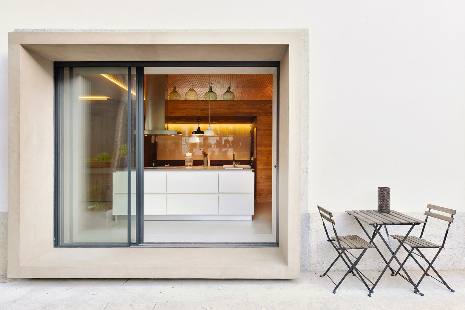 Doors, Exterior, Metal, and Sliding Door Type  Photo 7 of 16 in An Architect Renovates His 1920s Home in Portugal, While Preserving the Exterior Shell