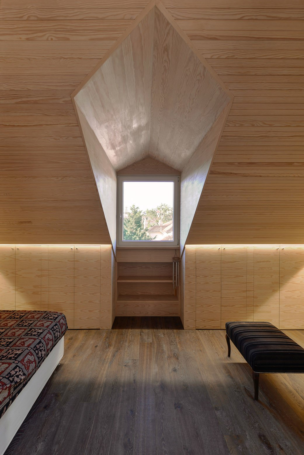 Windows, Picture Window Type, and Wood  Photo 15 of 16 in An Architect Renovates His 1920s Home in Portugal, While Preserving the Exterior Shell