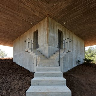 Stacked Concrete Squares Make Up This Incredible Vacation Home in Aragon, Spain - Photo 11 of 17 -