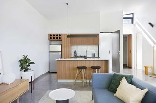 """Referred to locally as """"six-packs,"""" these 1960s-style, suburban walk-up apartments in Richmond, Melbourne, were reinterpreted by MUSK Architecture Studio, who transformed them into versatile and space-efficient, one- and two-bedroom units."""