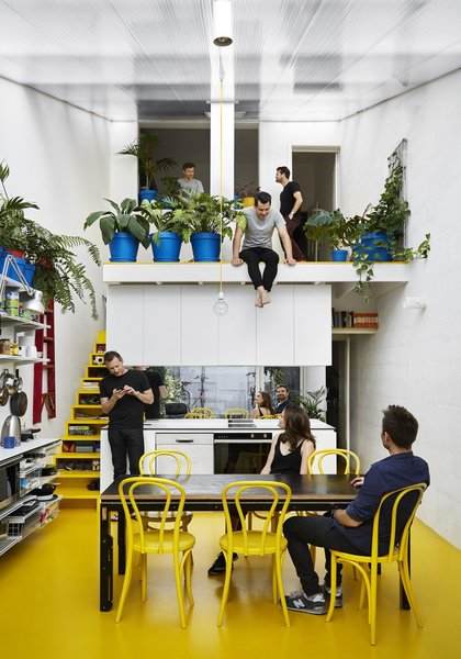Working with his colleagues at Austin Maynard Architects, Andrew Maynard added a 184-square-foot, sun-saturated greenhouse extension to his existing 364-square-foot home, which is now a new office for him and his team.