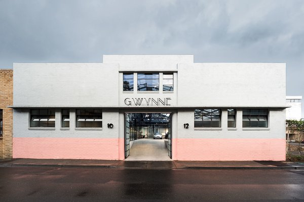 This old Art Deco warehouse in Melbourne's inner city was transformed into Gwynne Street Studio by Melbourne practice Biasol. It's now home to two separate creative businesses that exist symbiotically within the space.