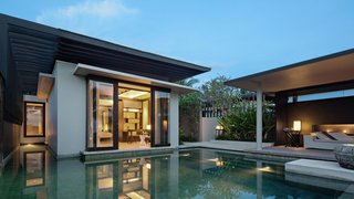 If you want to escape the crowds while in Bali, the clean-lined villas at Soori Bali are ideal. Designed by architect Soo K. Chan—founder of SCDA Architects—and his wife Ling Fu, the modern villas pay homage to the local culture with materials like stone from nearby village quarries, and ornaments crafted out of terra-cotta and ceramic by Balinese artisans.