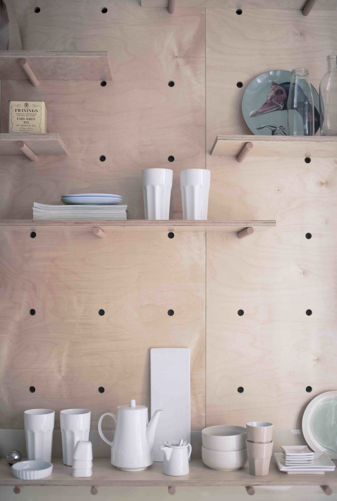 Storage Room and Shelves Storage Type  Photo 8 of 11 in 3 Smart Storage Systems Maximize Space in a Tiny Studio Apartment in Budapest