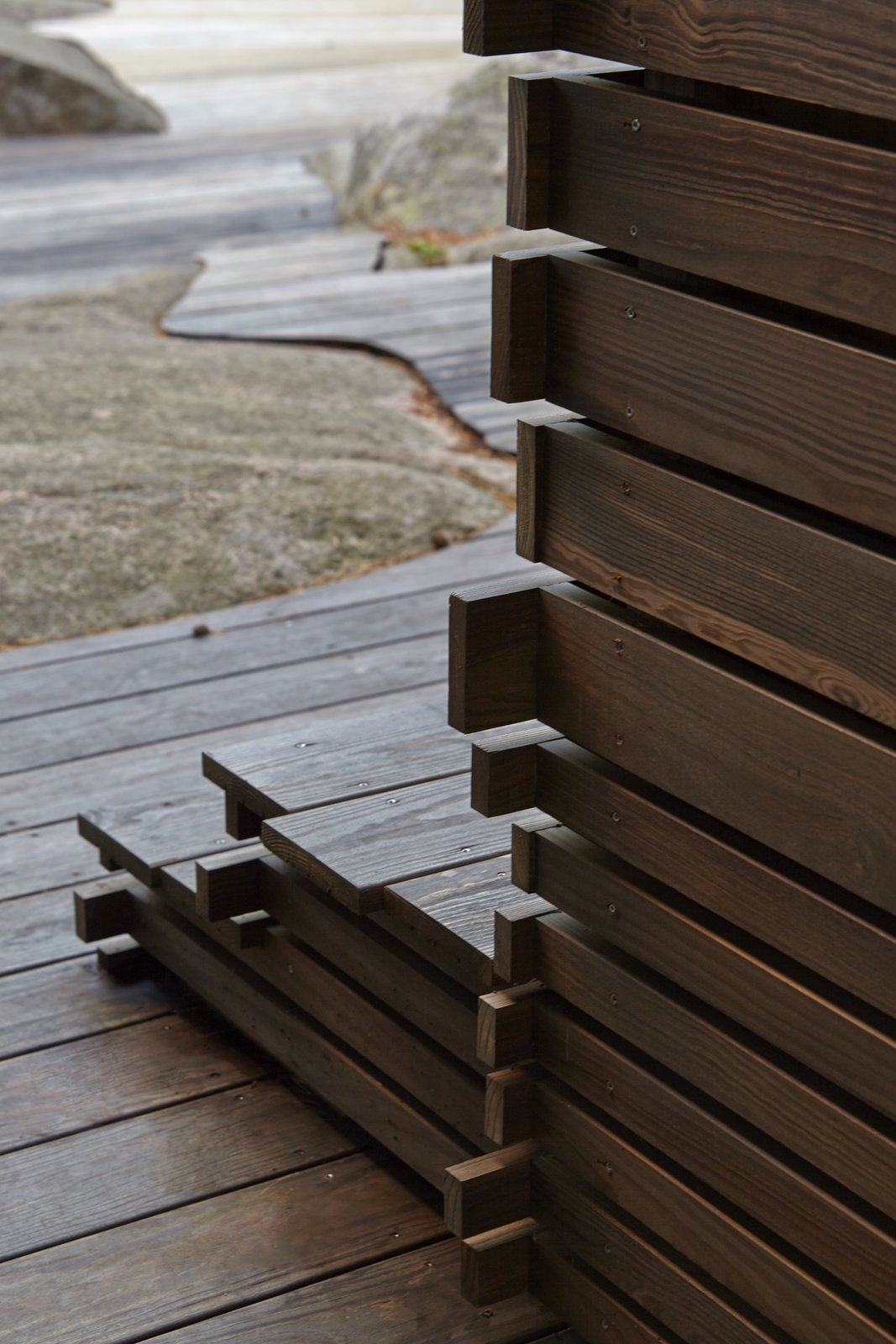Outdoor and Wood Fences, Wall  Photo 1 of 10 in A Tiny Bathhouse on the Norwegian Island of Hankø Made With Sustainable Softwood