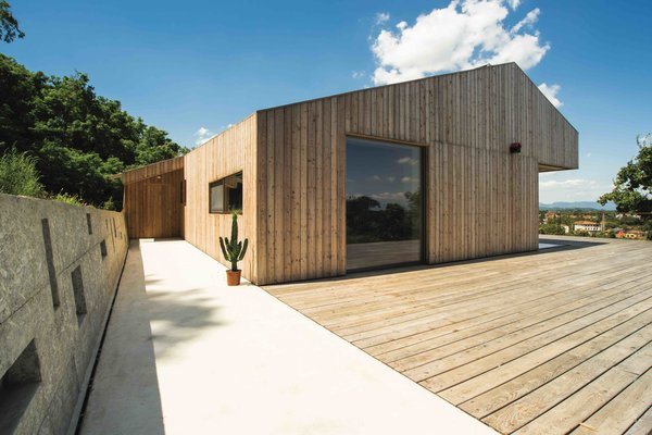 Exterior, House Building Type, and Wood Siding Material  Photo 3 of 14 in This Eco-Friendly Bed-and-Breakfast in Italy Is the Perfect Indoor/Outdoor Escape