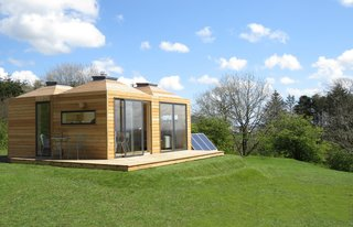 Multidisciplinary designer Sam Booth heads Scottish construction company Echo Living. He and his team of skilled builders are all about small scale living, and their eco-pods are made with sustainably manufactured sheeting boards and durable exterior membranes. Each small prefabricated building is delivered to the site with full fittings and fixtures, which often include a wood burner, solar panels, kitchen with integrated appliances, fully-fitted shower room, built-in bed, storage and shelving, timber flooring, lighting, timber decking, double glazed patio doors, and roof lights. Depending on the complexity of the project, most pods can be completed within eight to 10 weeks.