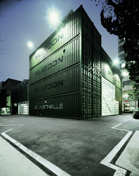 As an organization that was founded in Berlin, Platoon Cultural Development is a hub for people exploring street art, video art, club culture, political activism, fashion, and other creative subcultures. Its Seoul chapter is located in a building that's comprised of 28 ISO cargo containers that are spread over three floors. The structure's cool industrial character certainly matches its purposes well. The project was designed by Platoon Cultural Development in consultation with GRAFT Architects, Jiwon BaiK, U-IL Architects & Engineers, with interior design by URBANTAINER.