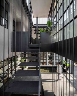 102 Potted Olive Plants Cover the Facade of This Bangkok Home - Photo 3 of 11 -