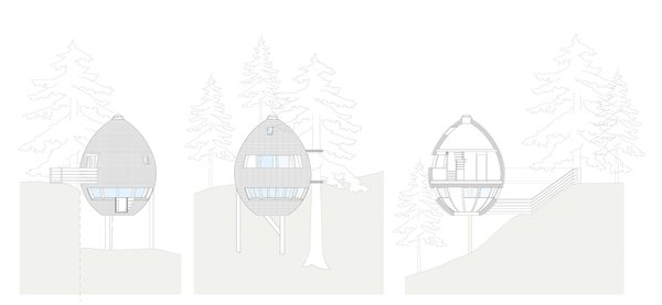 These Tree Houses in the Dolomites Look Like Egg-Shaped Pinecones - Photo 11 of 11 -