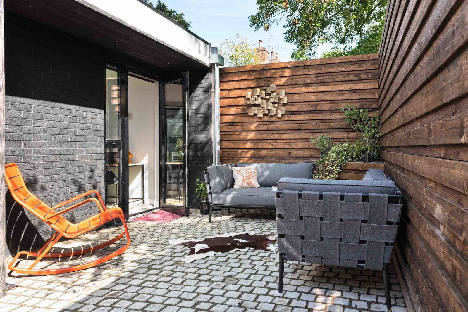 Outdoor, Wood, Pavers, Small, and Raised Planters  Best Outdoor Pavers Raised Planters Photos from This London Prefab Made of 7 Modules Was Raised in Just One Day