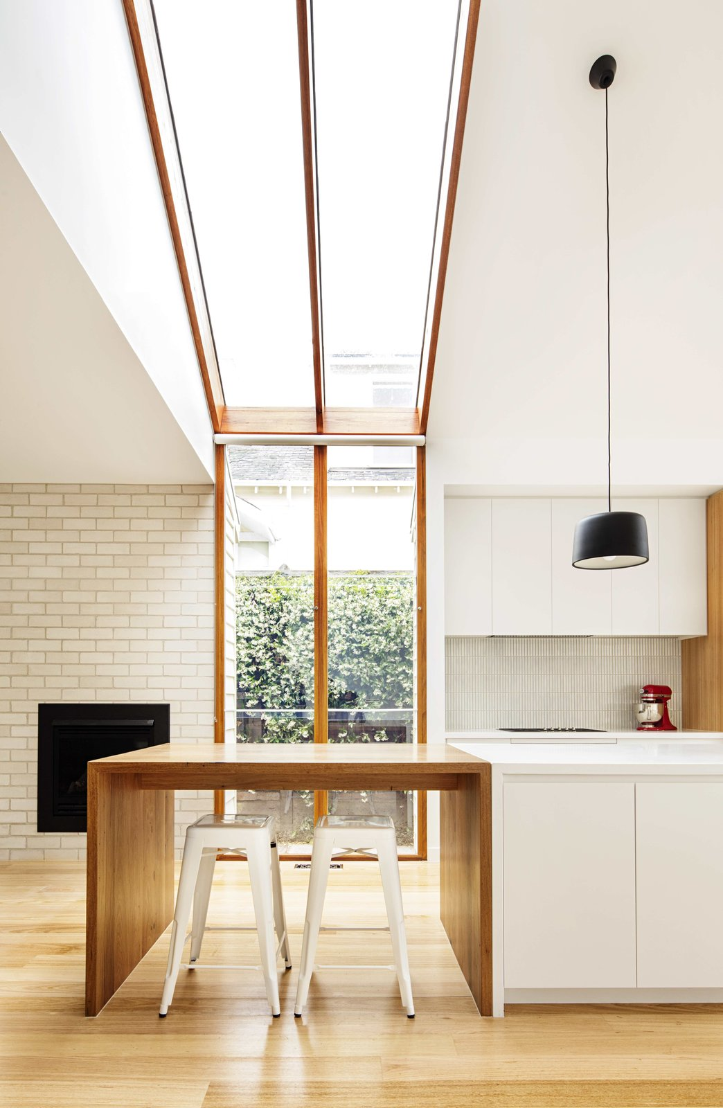 Windows, Skylight Window Type, and Wood  Photos from 2 New Gable Roofs Brighten Up an Edwardian Cottage in Melbourne