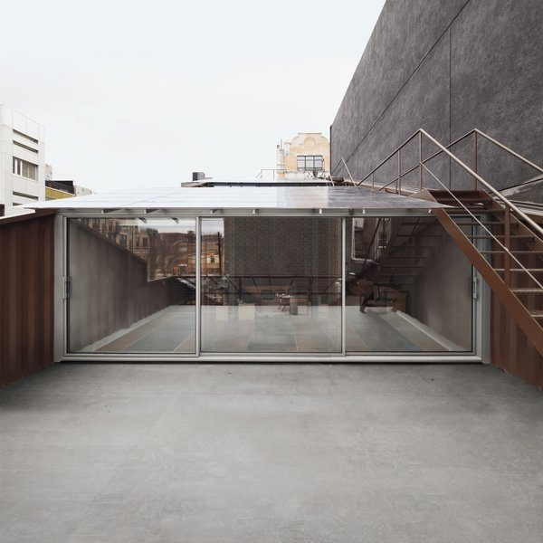 Exterior, House Building Type, Metal Siding Material, and Flat RoofLine  Photo 3 of 13 in An Amazing Home in Brooklyn Made Out of 21 Shipping Containers