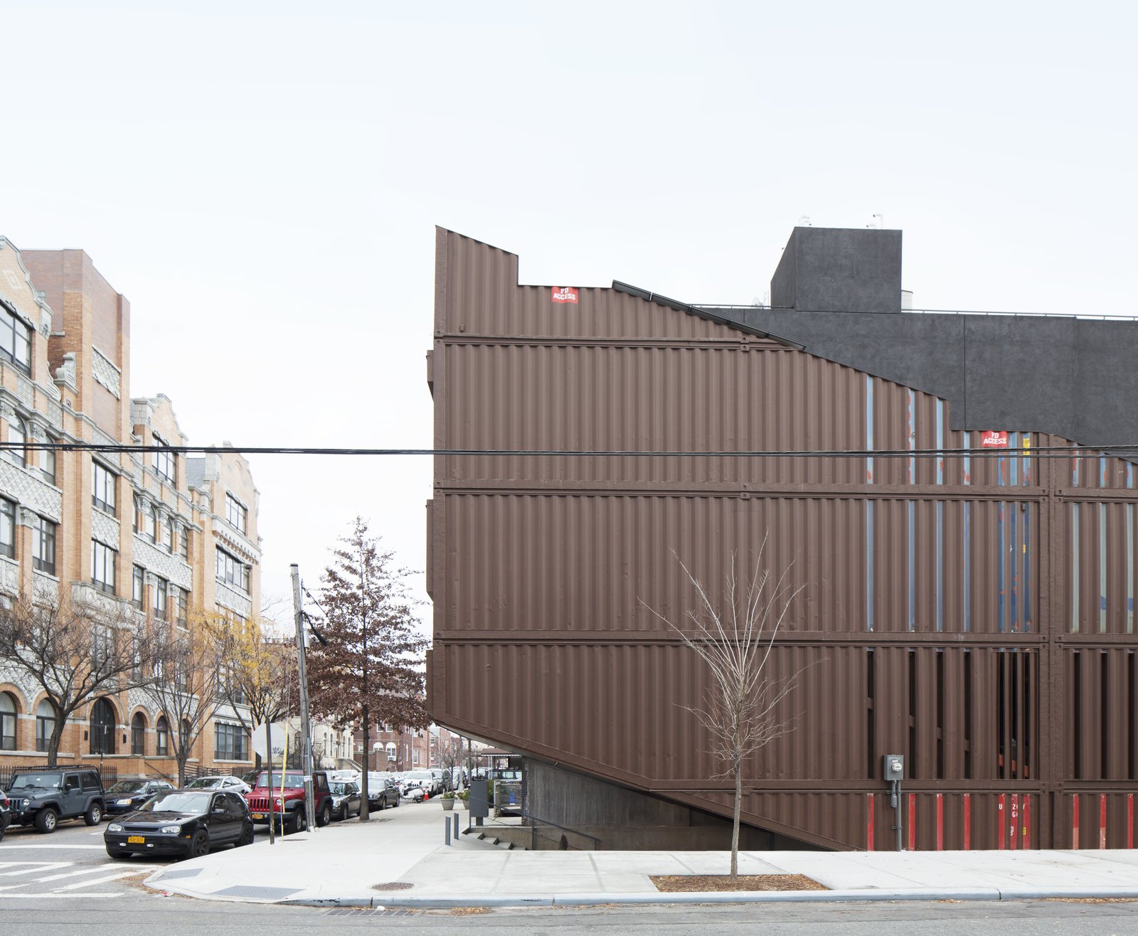 Exterior, Shipping Container Building Type, House Building Type, and Metal Siding Material  Photo 13 of 13 in An Amazing Home in Brooklyn Made Out of 21 Shipping Containers