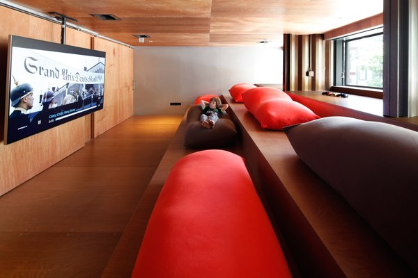 Shed & Studio and Home Theater Room Type  Photo 8 of 13 in An Amazing Home in Brooklyn Made Out of 21 Shipping Containers