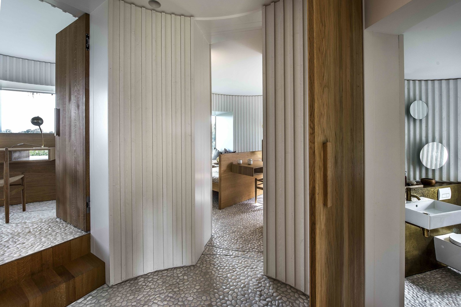 Hallway  Photo 6 of 15 in Stay in This Danish Vacation Home Made Up of 9 Log-Clad Cylinders