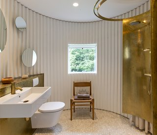 Stay in This Danish Vacation Home Made Up of 9 Log-Clad Cylinders - Photo 11 of 14 -