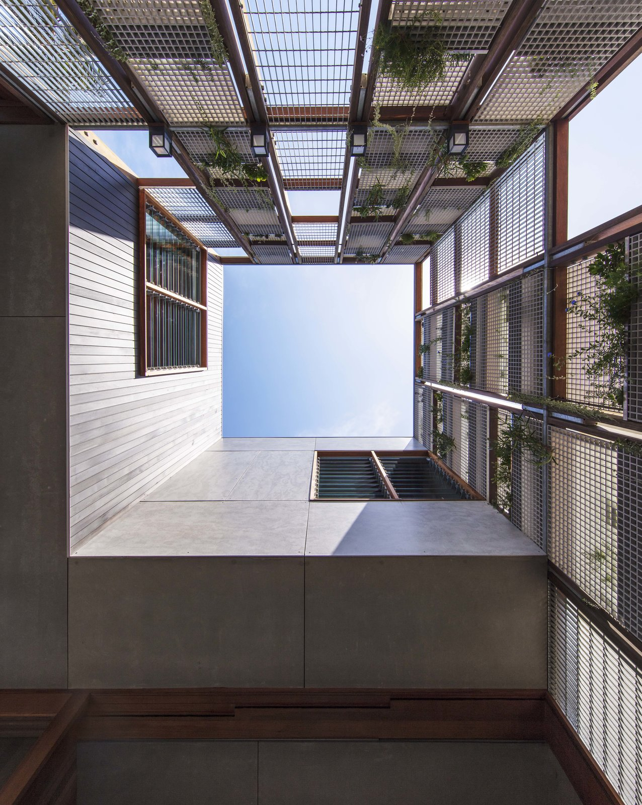 Exterior, House Building Type, and Metal Siding Material  Photo 6 of 19 in Living Screens Conceal a North Bondi Beach House and a Semi-Indoor Pool