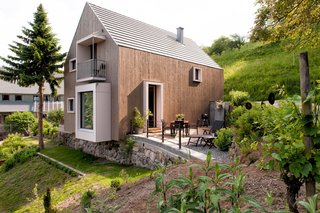 The owner of this two-bedroom holiday home in Germany's Black Forest is a carpenter and joiner, so it's no surprise that wood is the star in his design. Most of the wood for the core structure and interior finishings of the house were sourced from the nearby beech and pine forest.
