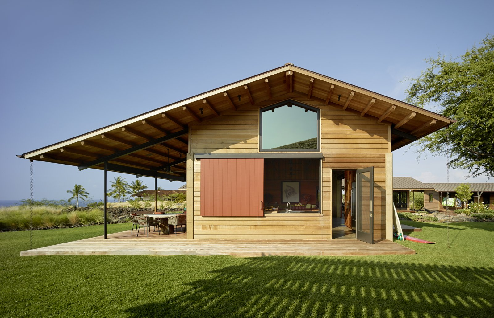 Exterior, House Building Type, Wood Siding Material, and Gable RoofLine  Photo 4 of 20 in An Incredible Home in Hawaii That's As Much Fun As Summer Camp
