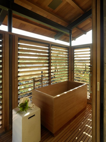 Bath Room, Freestanding Tub, and Soaking Tub  Photo 37 of 40 in 40 Modern Bathtubs That Soak In the View from An Incredible Home in Hawaii That's As Much Fun As Summer Camp