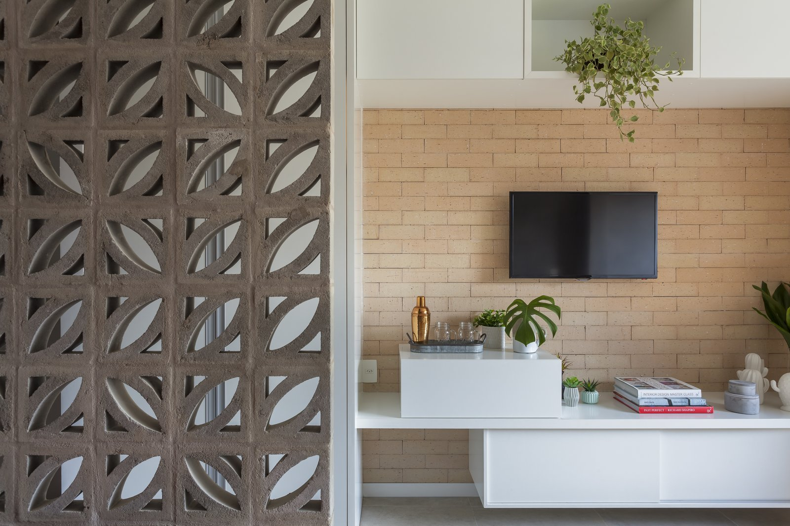 Storage Room and Cabinet Storage Type  Photo 3 of 9 in A 290-Square-Foot Apartment in São Paulo Takes Advantage of Every Inch