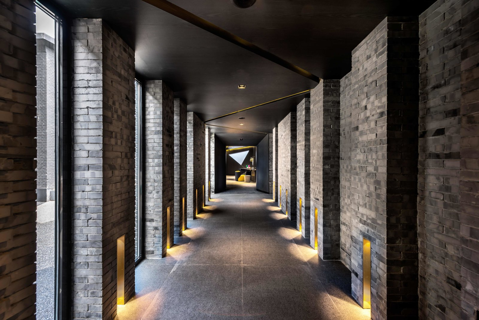 Hallway and Cement Tile Floor  Vue Hotel Hou Hai from A Hotel in Beijing Fuses Chinese History With Cosmopolitan Style