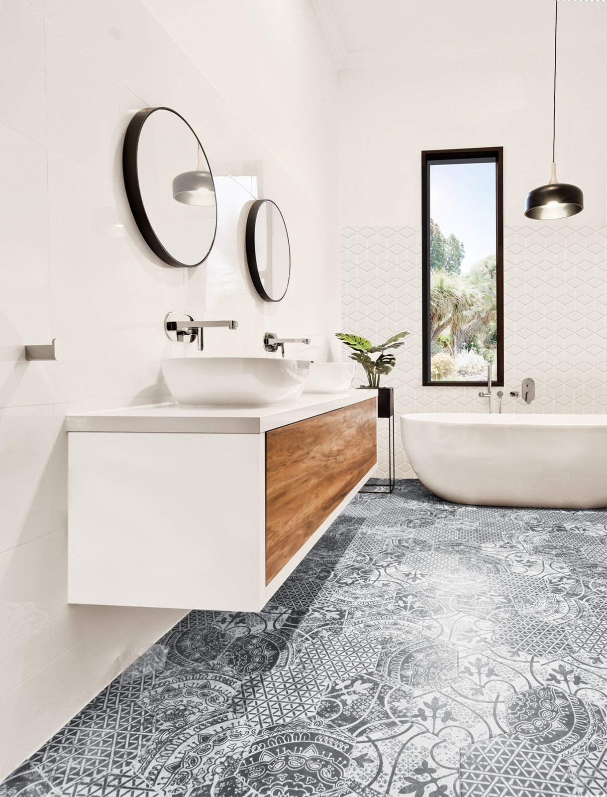 Bath, Pendant, Vessel, Engineered Quartz, Ceramic Tile, Porcelain Tile, and Freestanding  Best Bath Ceramic Tile Vessel Freestanding Photos from 6 Insider Tips For Bathroom Design From the Experts