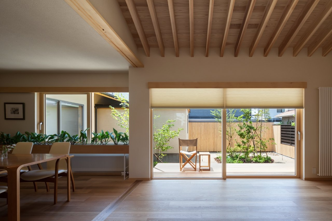 Doors, Wood, Exterior, and Sliding  Best Doors Photos from A Super-Insulated Home in Japan Brings Comfort to an Elderly Couple