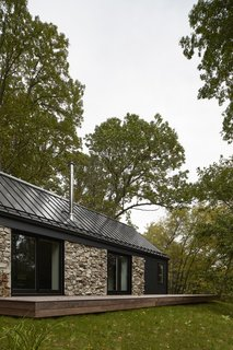 A Minimalist Retreat Rises From Old Stone Walls in Hudson Valley - Photo 1 of 12 -