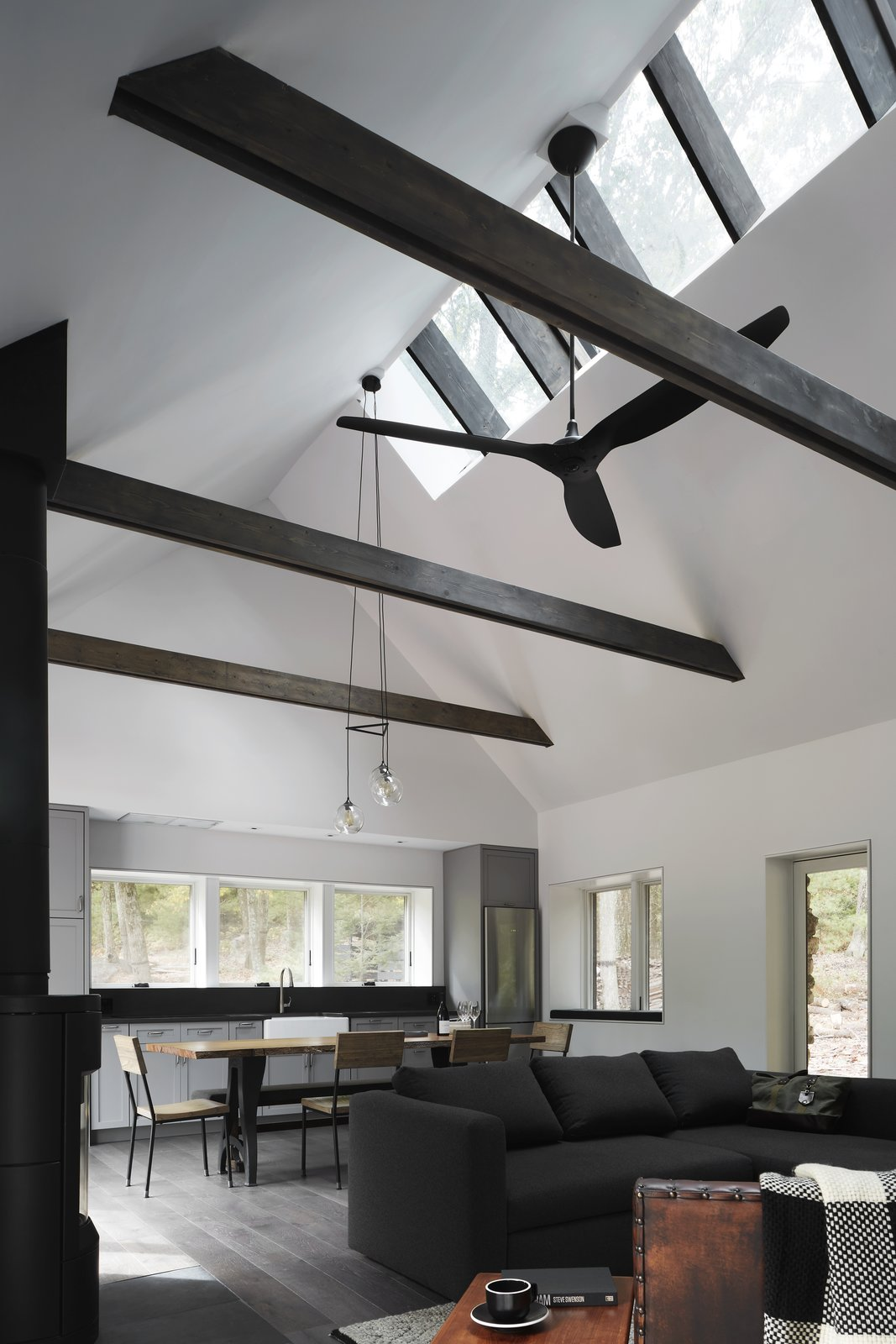 Windows and Skylight Window Type  Photo 6 of 13 in A Minimalist Retreat Rises From Old Stone Walls in Hudson Valley