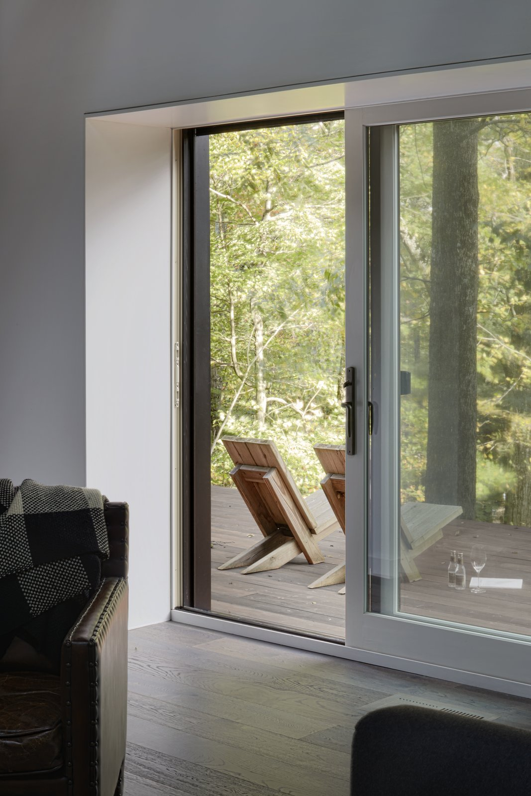 Doors, Sliding Door Type, and Exterior  Photo 5 of 13 in A Minimalist Retreat Rises From Old Stone Walls in Hudson Valley