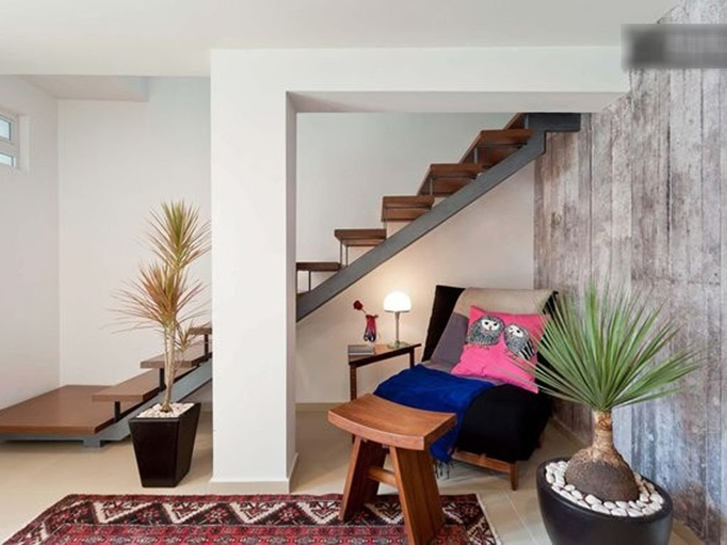 Staircase and Wood Tread  Photo 6 of 7 in 7 Stylish Pads to Rent in Mexico City